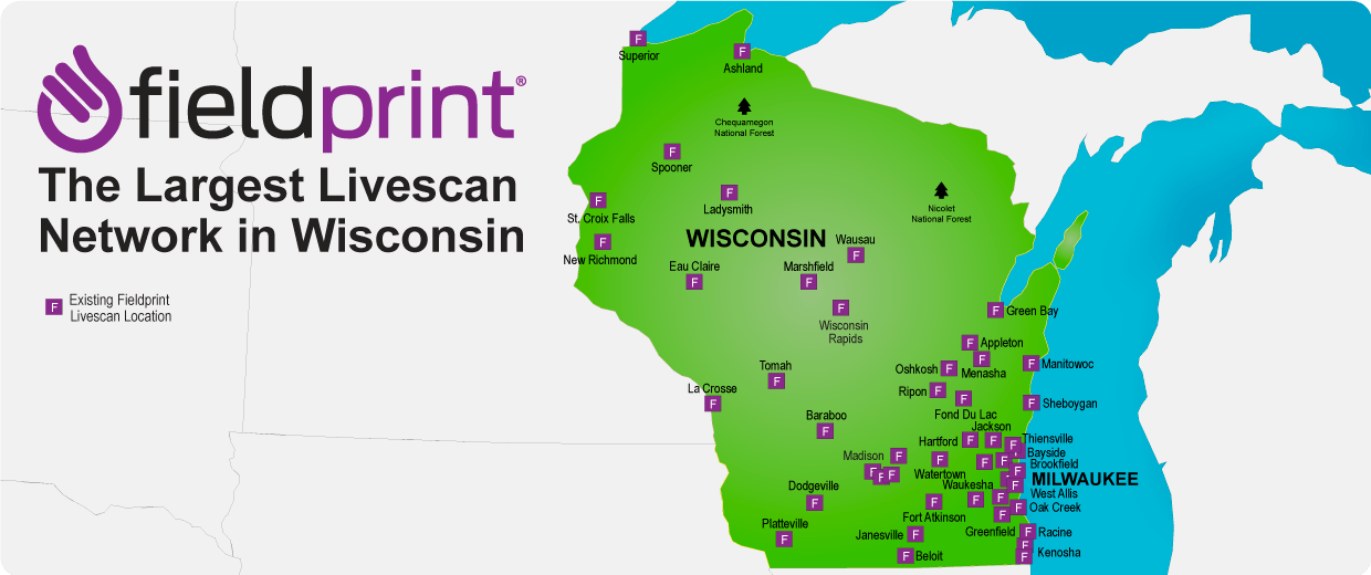 Wisconsin Livescan locations